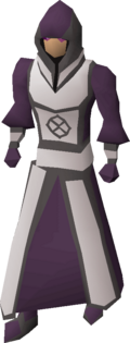 Robes of darkness equipped