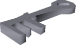 Crystal key detail