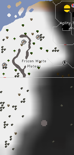 Frozen Waste Plateau map