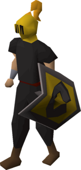 Heraldic helm (Varrock) equipped