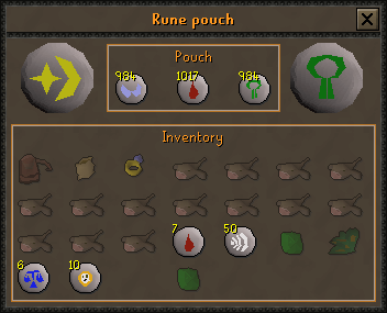 Rune pouch interface