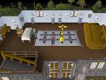 Emote clue - bow inside legends guild