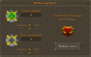 Membership Bonds interface