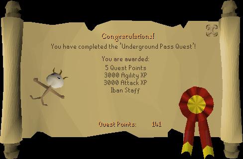 Underground Pass reward scroll
