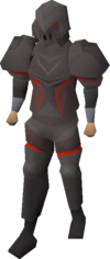 Obsidian armour equipped