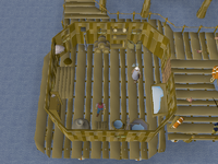 Cryptic clue - search crate fishing platform