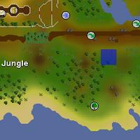 Hot cold clue - north-western Kharazi Jungle map