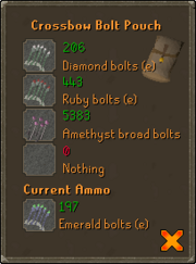 Bolt pouch menu