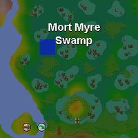 Hot cold clue - Mort Myre Swamp map