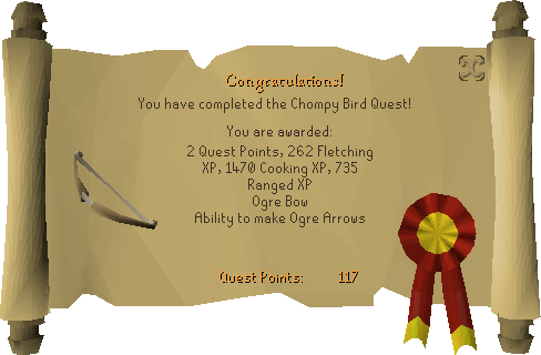 Big Chompy Bird Hunting reward scroll