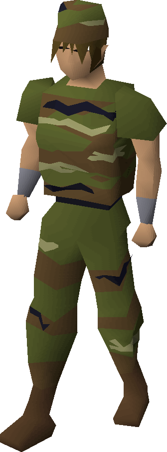 Camouflage clothing equipped