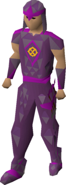 Ancient blessed d'hide armour equipped
