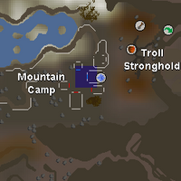 Hot cold clue - Mountain Camp map