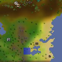 Hot cold clue - feldip south-eastern lake map
