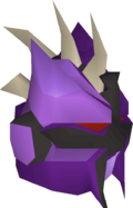 Purple slayer helmet detail