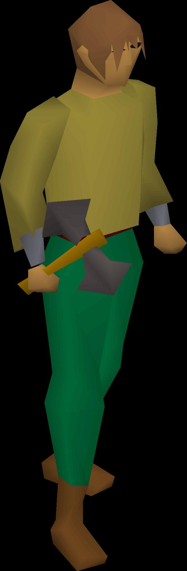 Iron thrownaxe equipped