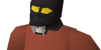 Black h'ween mask