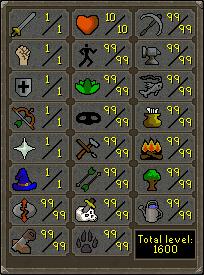 Skill pure max stats
