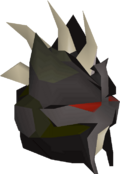 Black slayer helmet detail