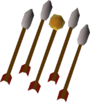 Fire arrows (lit) detail