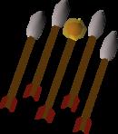 Fire arrows (lit) detail