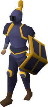 Mithril gold-trimmed set (lg) equipped