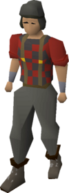 Lumberjack clothing equipped