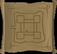 Map clue Dark Warriors' Fortress