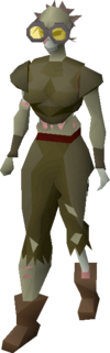 Gravedigger outfit (female) equipped
