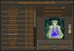 Raiding Party interface