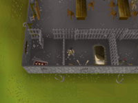 Cryptic clue - search bucket port sarim jail