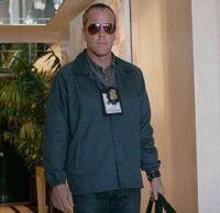 Bauer in FBI uniform