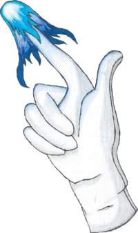 Drawing of Master Hand