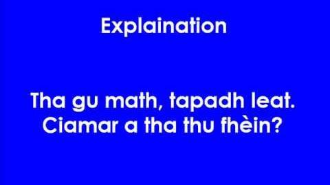 Scots Gaelic Lesson 1 part 1