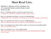 List of must read links