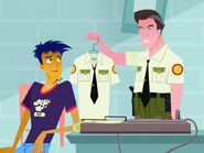 Ron gives Jonesy his uniform