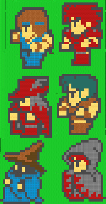 Final fantasy sprites in error town 5
