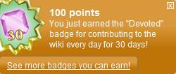 30 days badge