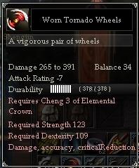 Worn Tornado Wheels