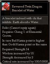 Reversed Twin Dragon Bracelet of Water