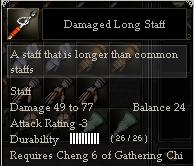 Damaged Long Staff