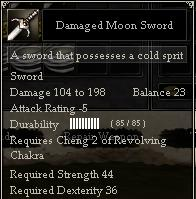 Damaged Moon Sword