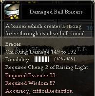 Damaged Bell Bracers