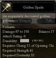 Golden Spade