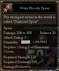 Worn Bloody Spear