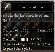 Fine Bladed Spear