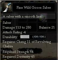 Fine Wild Goose Saber