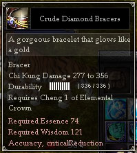 Crude Diamond Bracers