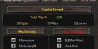 Combat Record Window
