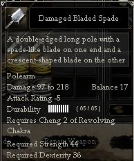 Damaged Bladed Spade